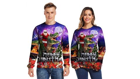 Sixdaysox Hilarious Ugly Christmas Sweater for Couples