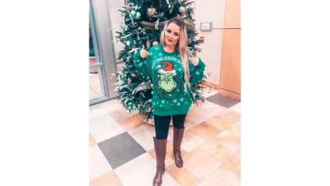 Dr. Seuss Resting Grinch Face Ugly Holiday Sweater