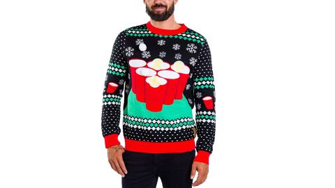 Tipsy Elves Cheer Pong Game Ugly Christmas Sweater