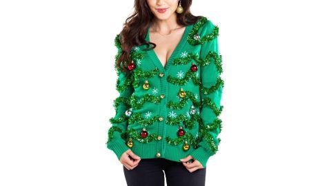Tipsy Elves Gaudy Garland Ugly Christmas Cardigan