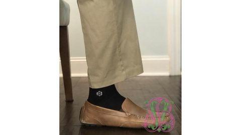 Monogrammed Men's Dress Socks