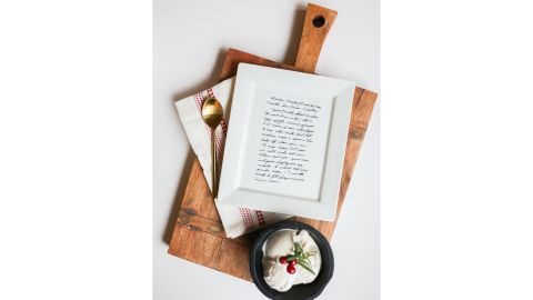 Personalized Family Recipe Plate