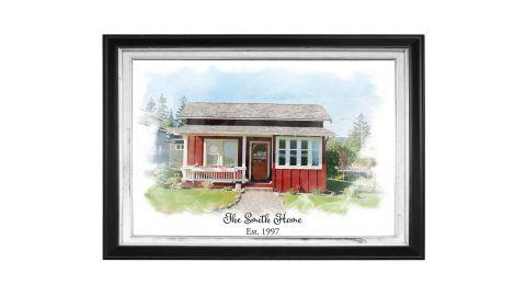 Personalized House Picture Portrait