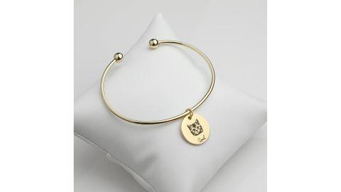 Custom Dog Charm Bangle Bracelet