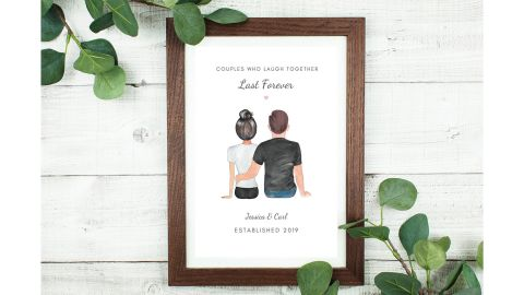 PrettyUniquePrints Personalized Couple Print