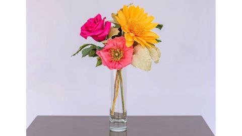 UnwiltedPaperFlowers Pink Lemonade Crepe Paper Flower Arrangement