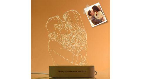 PoshChicStore Custom 3D Photo Lamp