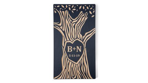 Personalized Tree Wood Carving