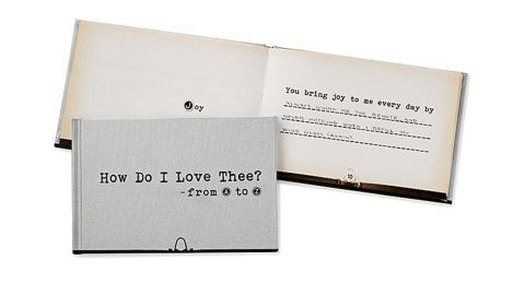 How Do I Love Thee From A-Z Bound Love Letter
