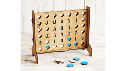 Personalized Hearts 4-Across Game