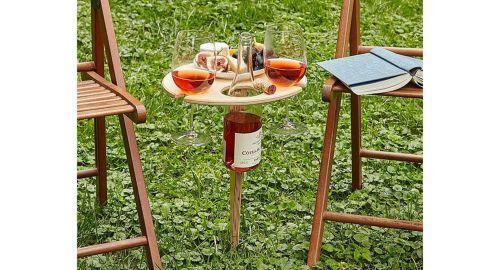 Uncommon Goods Outdoor Wine Table