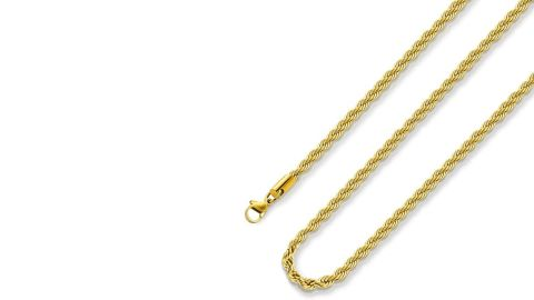 Monily Store Gold-Plated Rope Chain