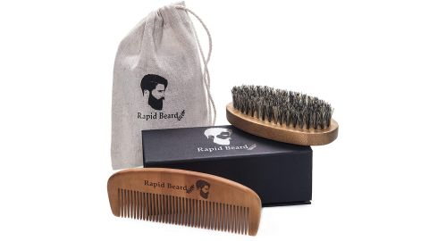 Rapid Beard Store Beard Brush and Beard Comb Kit