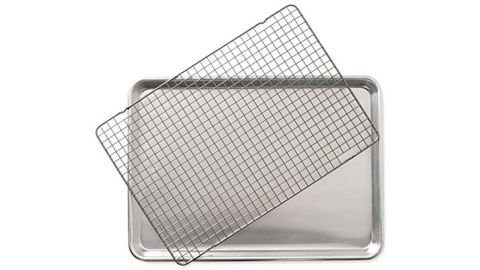 Nordic Ware Half Sheet With Oven-Safe Nonstick Grid, 2-Piece Set