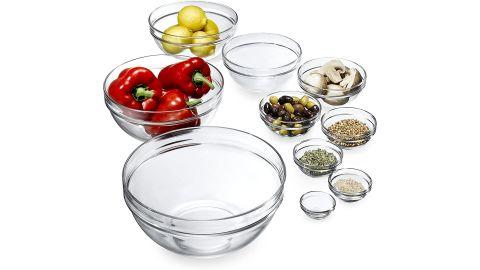 Luminarc Stackable Glass Bowl 10-Piece Set