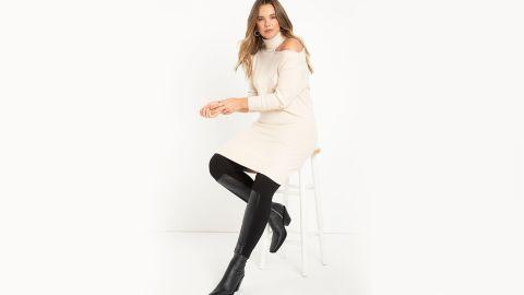 Eloquii Cold Shoulder Sweater Dress