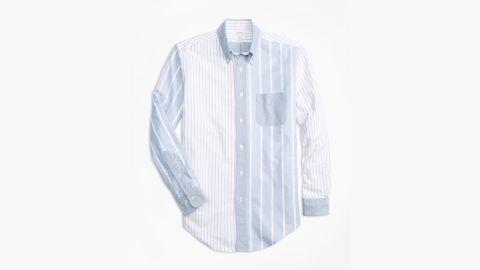 Brooks Brothers Regent Fit Oxford Fun Stripe Sport Shirt