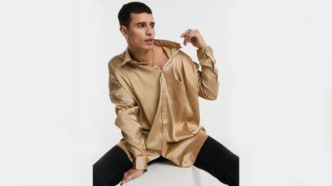 Asos Design Oversized Satin Shirt