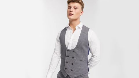 Asos Design Wedding Super Skinny Suit Vest