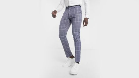 New Look Skinny Plaid Suit Pant