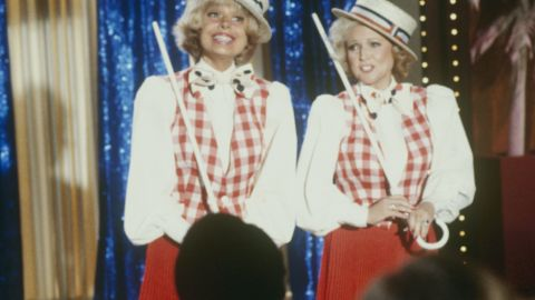 """White made several guest appearances on """"The Love Boat,"""" including this one in 1982 with Broadway star Carol Channing."""