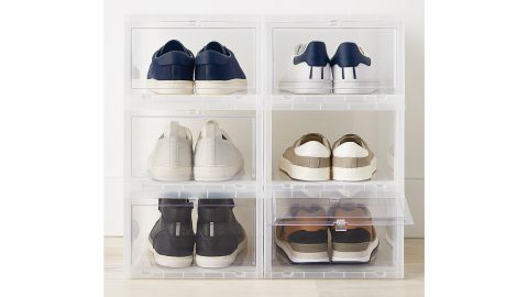 Container Store Large Drop-Front Shoebox Case of 6