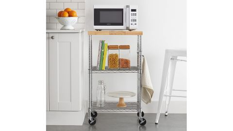 AmazonBasics Kitchen Rolling Microwave Cart