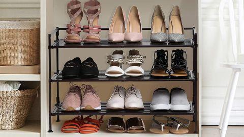 Seville Classics Stackable Shoe Storage Rack