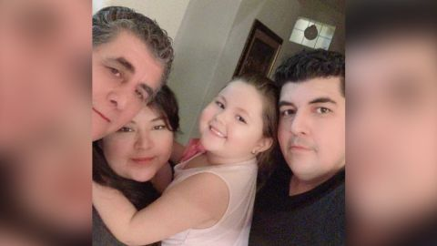 """Zelene Blancas was """"the best aunt,"""" her brother said. She is seen here with her father, niece and brother."""