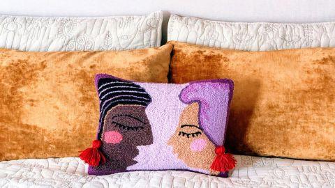 Jungalow Duet Hook Pillow by Justina Blakeney