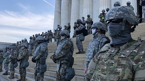 National Guard troops were deployed to the Lincoln Memorial on June 2, 2020 as protests were held in DC over the death of George Floyd.