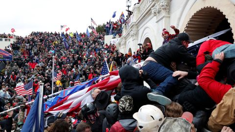 Trump supporters storm the Capitol during clashes with police.