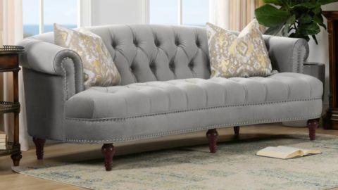 La Rosa Velvet 3-Seater Chesterfield Sofa