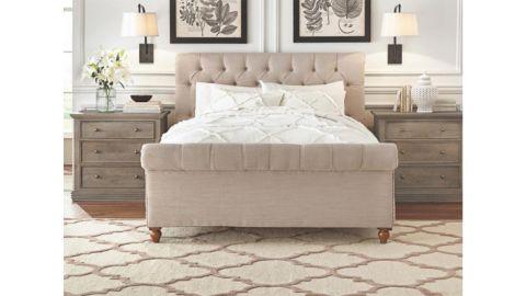 Gordon Natural King Sleigh Bed