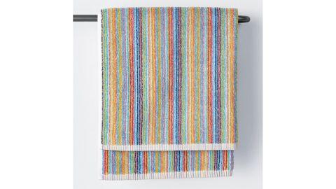 Stripe Multicolored Cotton Fingertip Towel, Set of 2