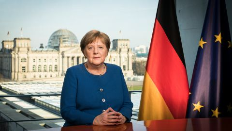 In a rare televised message, Merkel tells the German people that the coronavirus pandemic is the nation's gravest crisis since World War II.