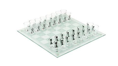 True Brands Clear Chess Board Game