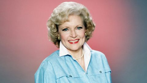 """Betty White poses for a portrait in the mid-1980s, when she starred in the hit sitcom """"The Golden Girls."""""""