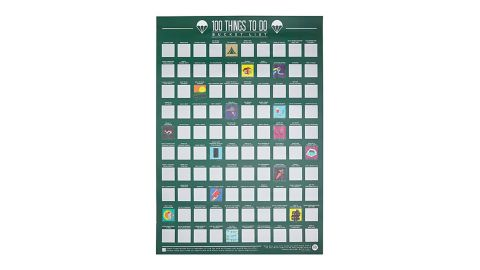 100 Things to Do Scratch-Off Poster