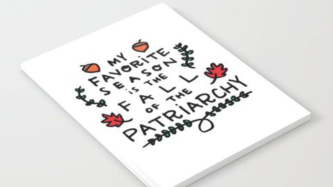 We Design Studios My Favorite Season Is the Fall of the Patriarchy Notebook