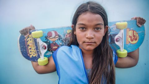 """<strong>Kekai, 12: </strong>""""I love the speed when I skate. I feel very alive and present. Feeling fluid and going fast is fun."""""""