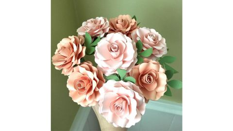 Light Pink and Peach Paper Roses
