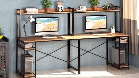 Vipek Double Workstation Home Office Desk