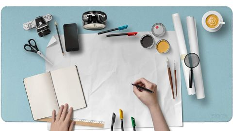Eminta Dual-Sided Desk Pad Office Desk Mat