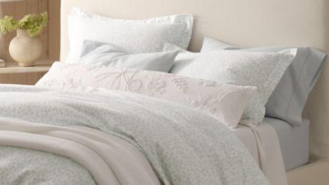 Garnet Hill Hemstitched Flannel Bedding