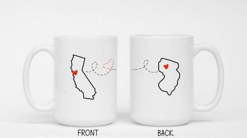 ShopKPP Custom Long-Distance Relationship Coffee Cups