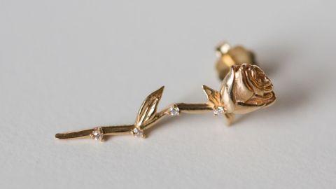 Catbird Celestial Rose Earring