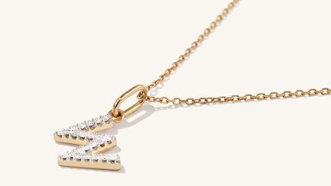 Mejuri Diamond Letter Pendant