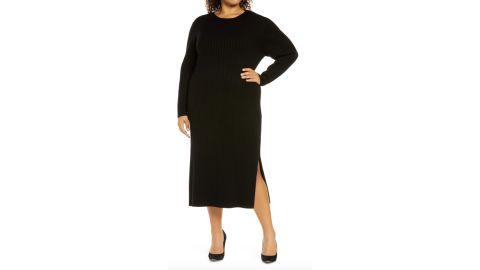 Wayf x BFF Hollie Tie-Back Long-Sleeve Sweater Dress
