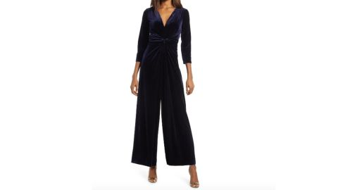 Harper Rose V-Neck Long-Sleeve Jumpsuit